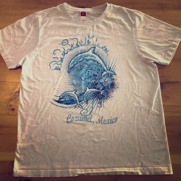 💥SOLD💥Indie Hipster Hippy Dolphin men's tee